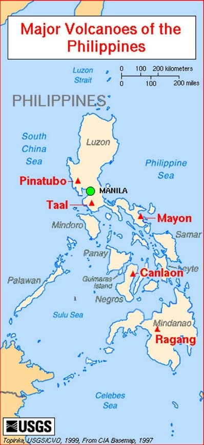 Major Volcanoes of the Philippines   BharatNet project