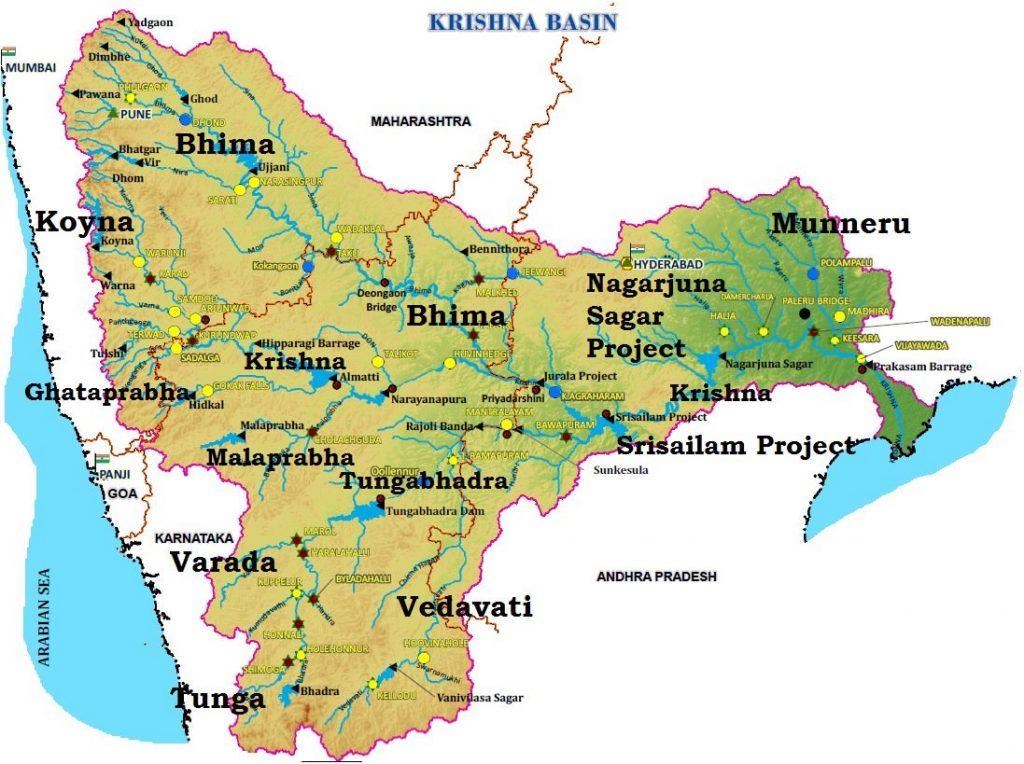 River Water Disputes - Andhra Pradesh & Telangana