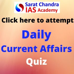 Attempt UPSC CSE daily current affairs quiz here