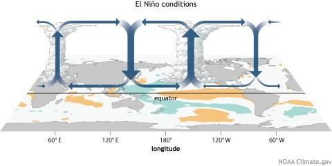 Global warming impact on El Nino and La Nina events