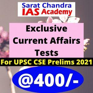 UPSC Prelims current affairs test series